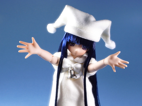 白い魔法の女の子